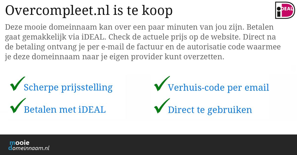 (c) Overcompleet.nl